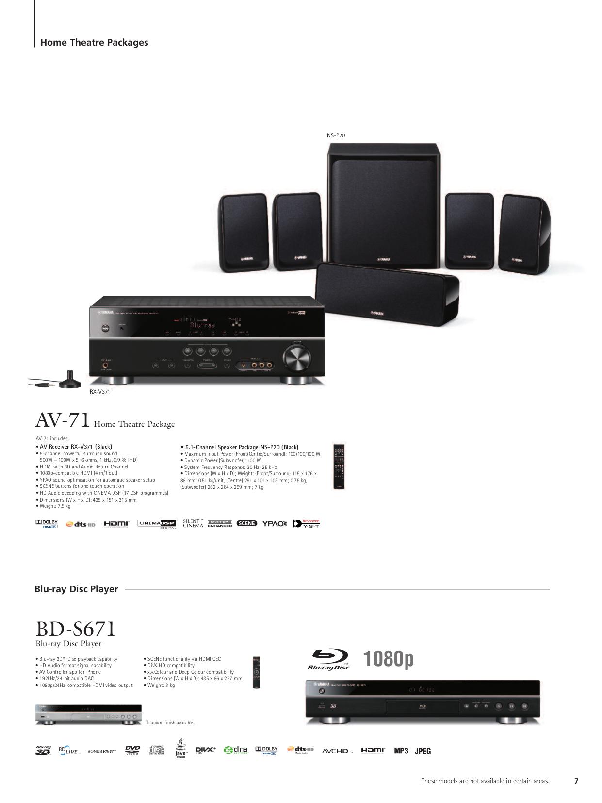 PDF manual for Yamaha Receiver RX-V371