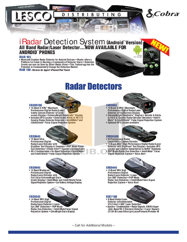 Download free pdf for cobra xrs9445 radar detector manual.