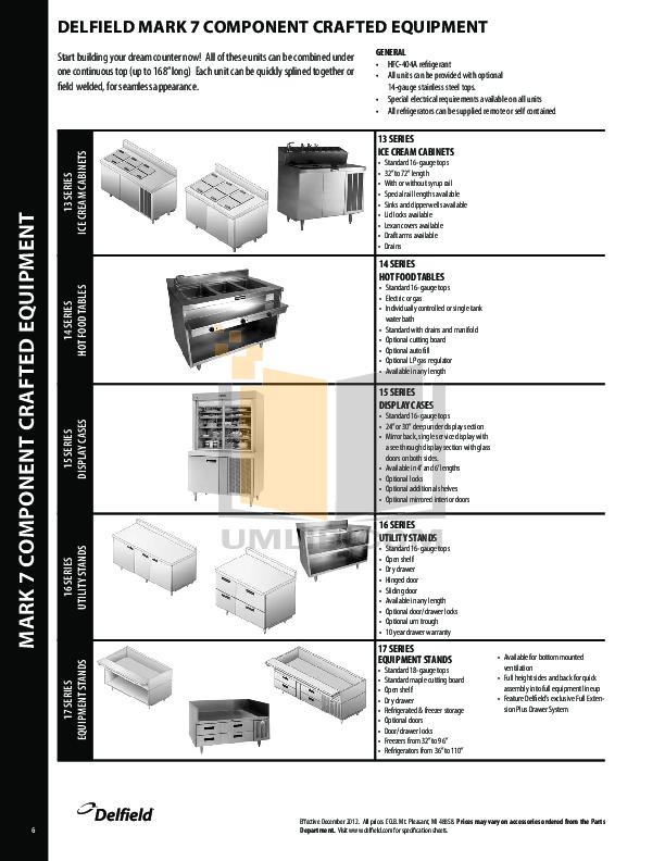 Delfield Refrigerator SCF-32 pdf page preview