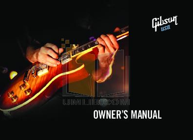 download free pdf for gibson les paul custom guitar manual rh umlib com gibson les paul owners manual gibson les paul standard owner's manual