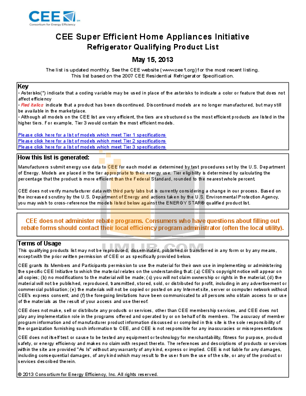 pdf for Frigidaire Refrigerator Professional FPHS2687KF manual