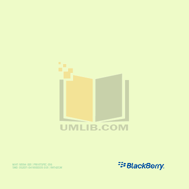 Blackberry Cell Phone 8700f pdf page preview