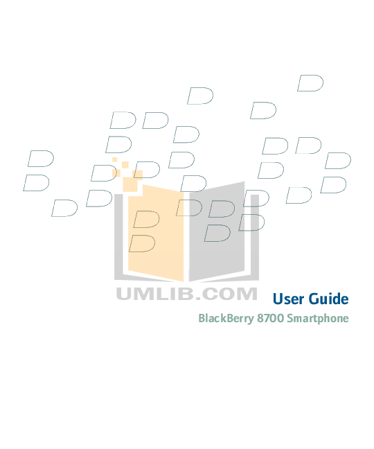 pdf for Blackberry Cell Phone 8700f manual