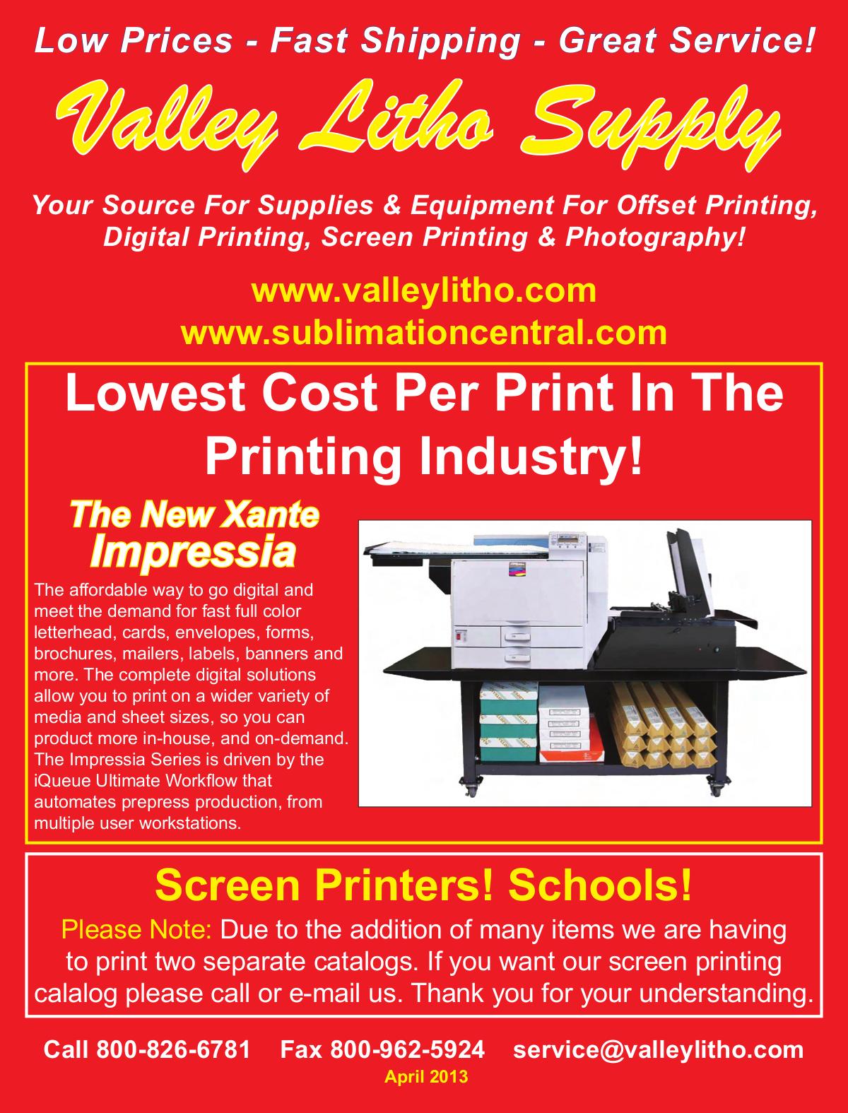 pdf for Xante Printer AW 1200 manual