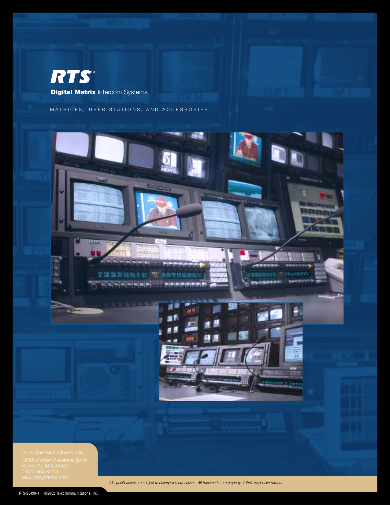 pdf for Telex Other EKP-832 Console Mount User Station manual
