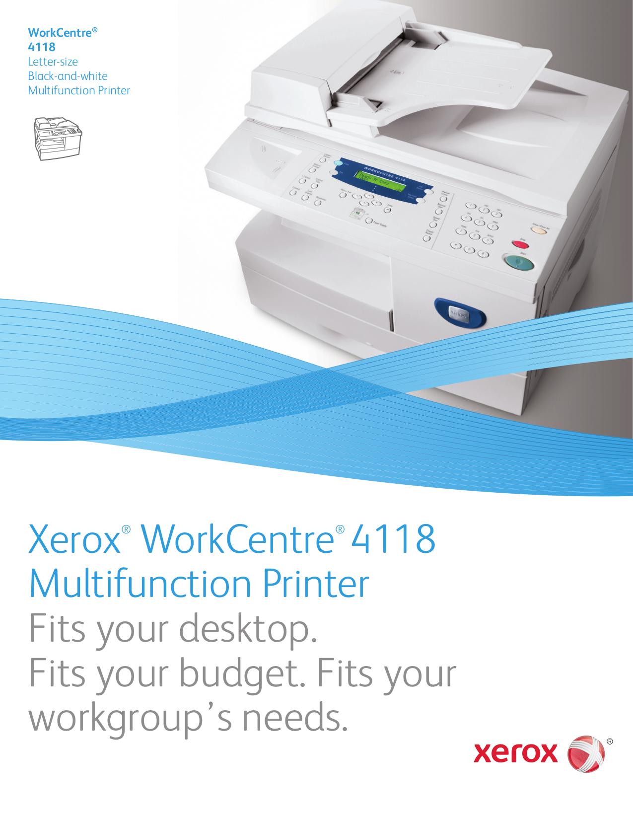 download free pdf for xerox workcentre 4118 multifunction printer manual rh umlib com xerox workcentre 4118 manual de servicio xerox workcentre 4118 service manual