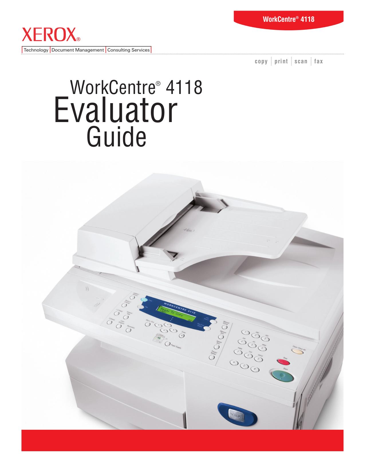 download free pdf for xerox workcentre 4118 multifunction printer manual rh umlib com xerox wc 4118 service manual manual da impressora xerox workcentre 4118