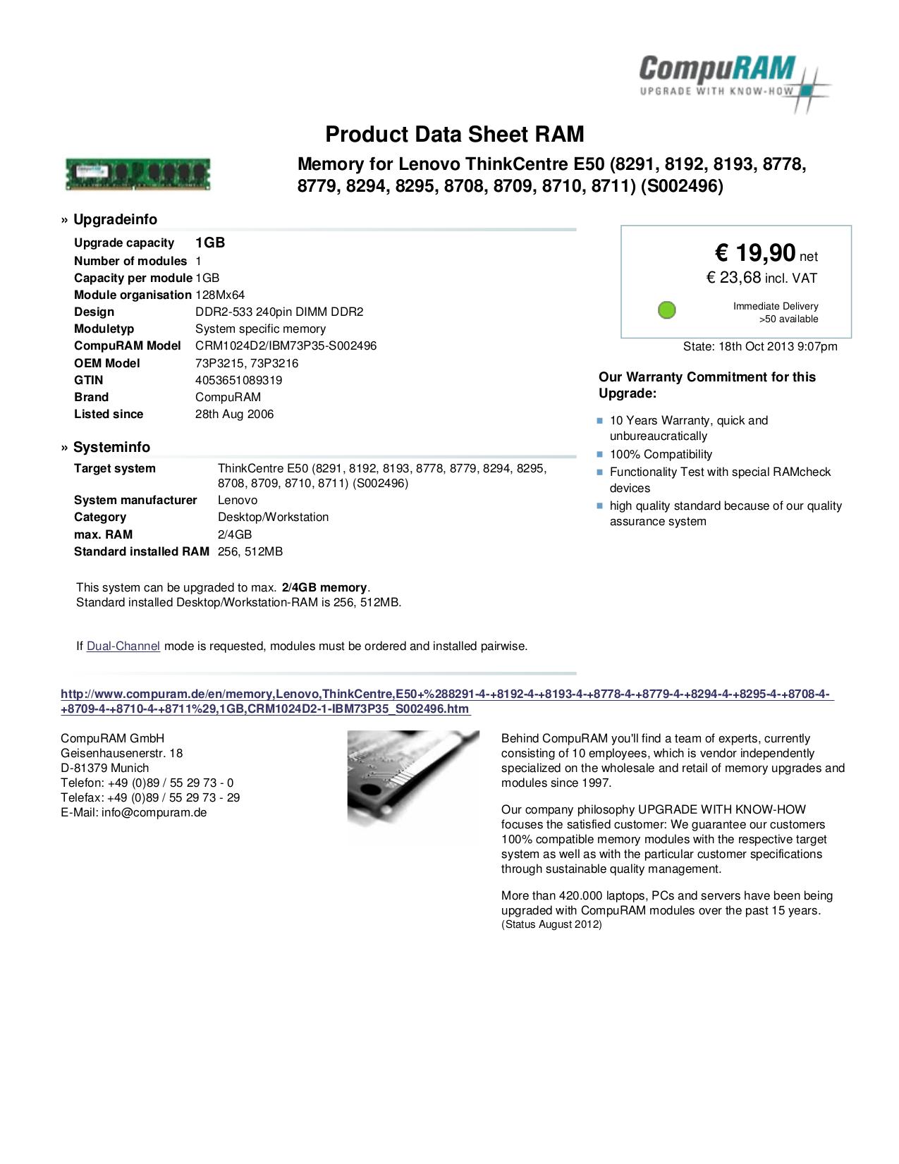 pdf for Lenovo Desktop ThinkCentre E50 8778 manual