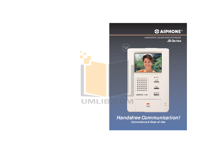 pdf for Aiphone Other JBS-2ADVF Intercoms manual