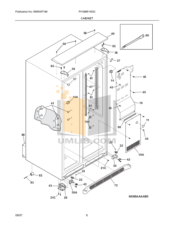 Frigidaire Refrigerator PHS69EHSS pdf page preview