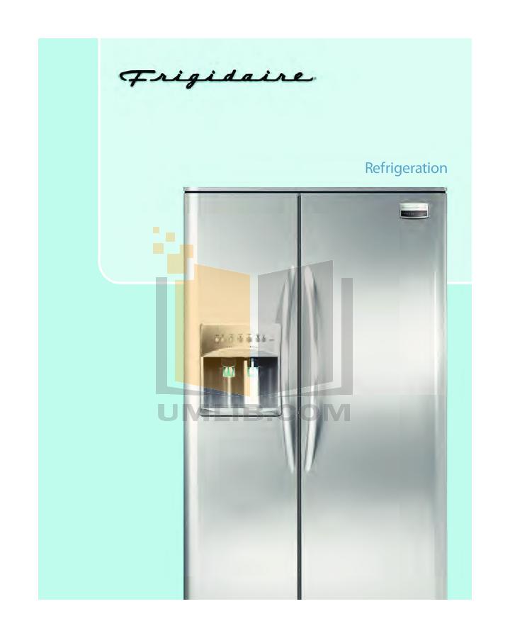 pdf for Frigidaire Refrigerator PHS69EHSS manual
