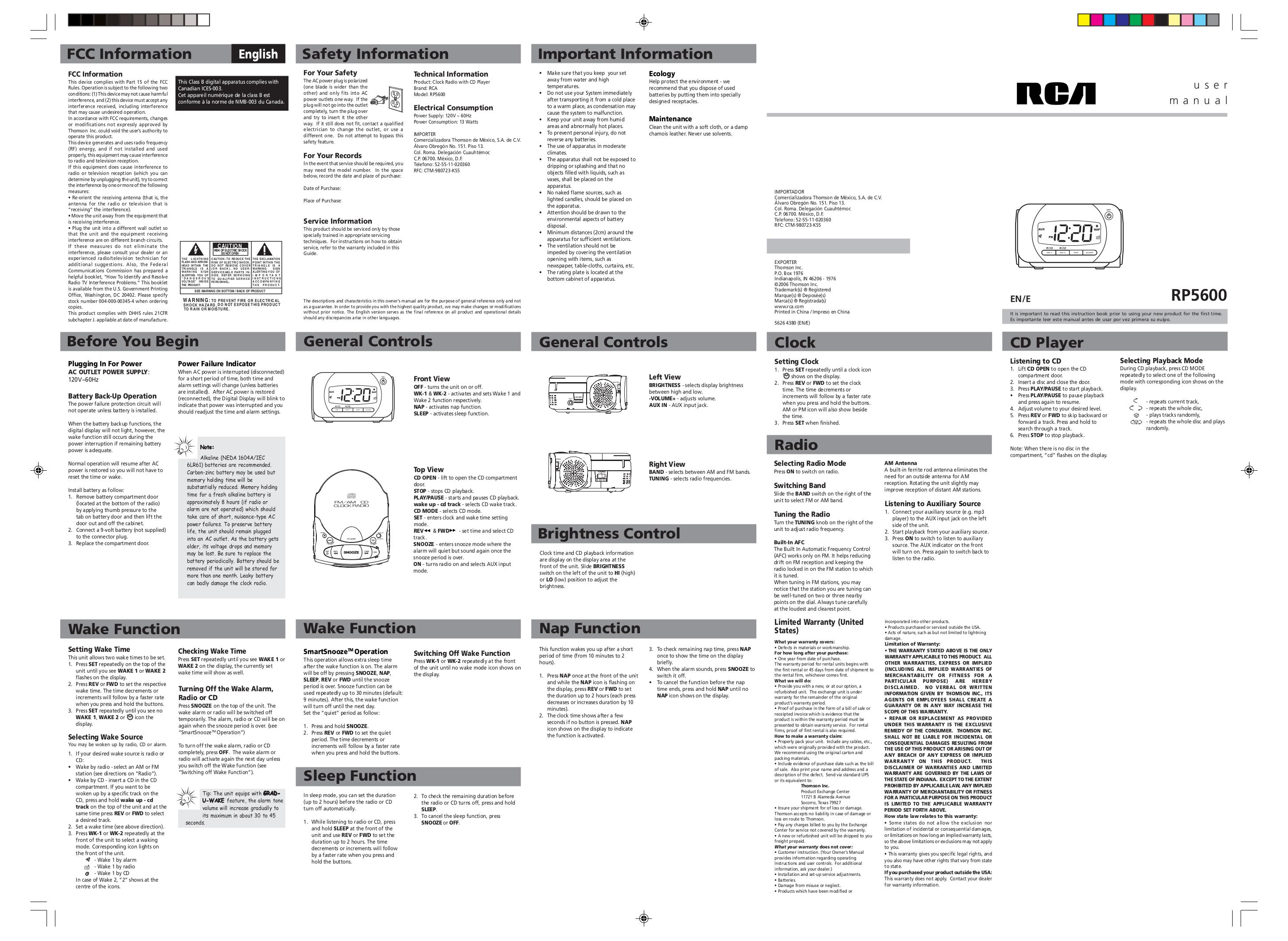 download free pdf for rca rp5600 clock radio manual rh umlib com rca cd clock radio rp5600a manual