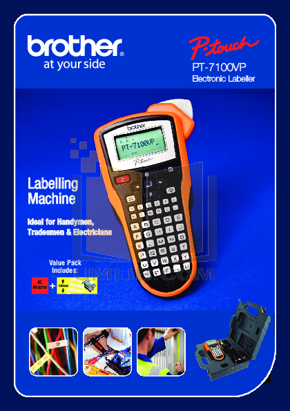 pdf for Brother Printer PT-150 manual