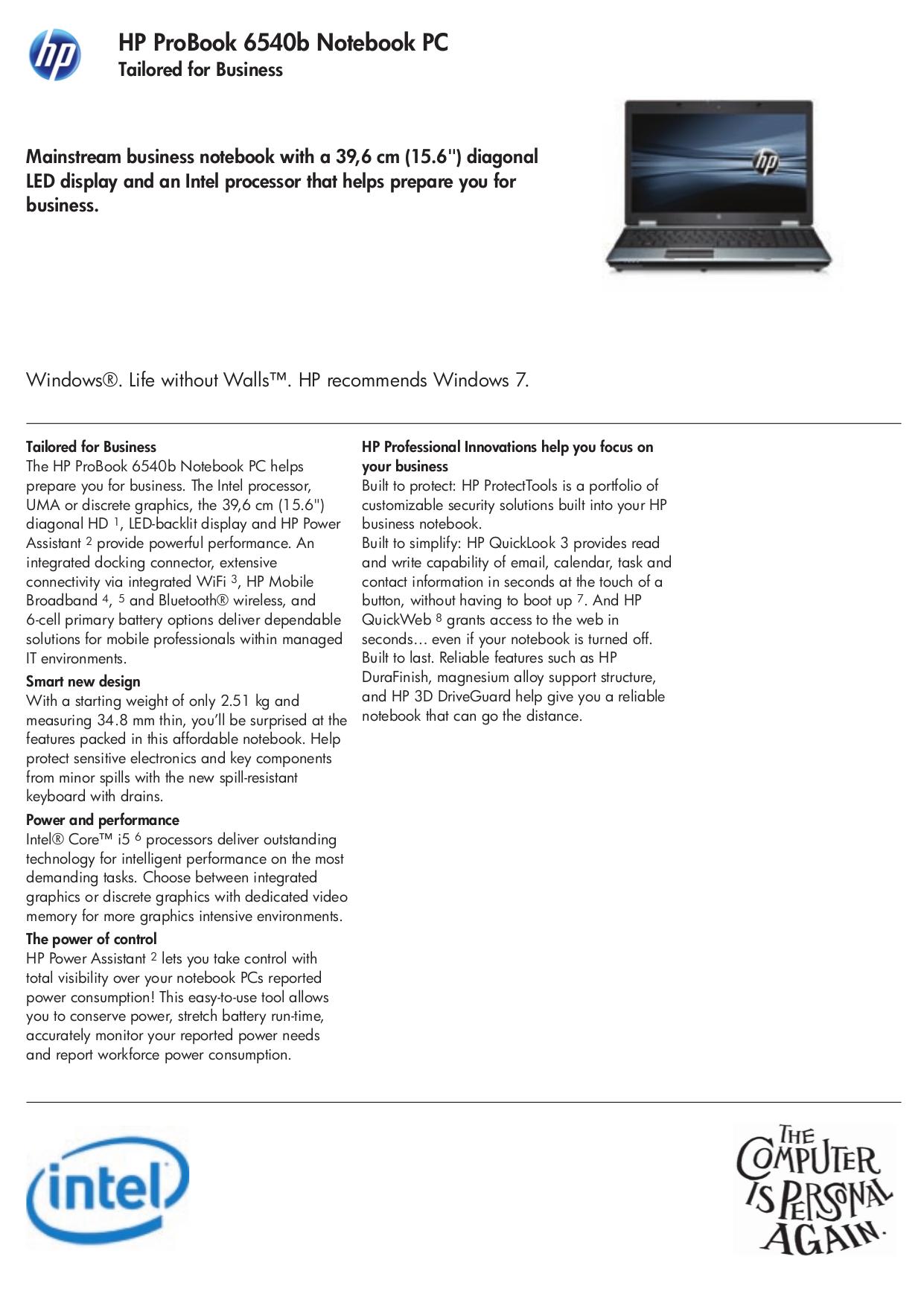 hp probook 6550b manual pdf
