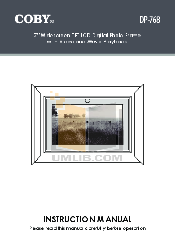 download free pdf for coby dp 887 digital photo frame manual rh umlib com Bissell PowerSteamer User Manual Instruction Manual Example