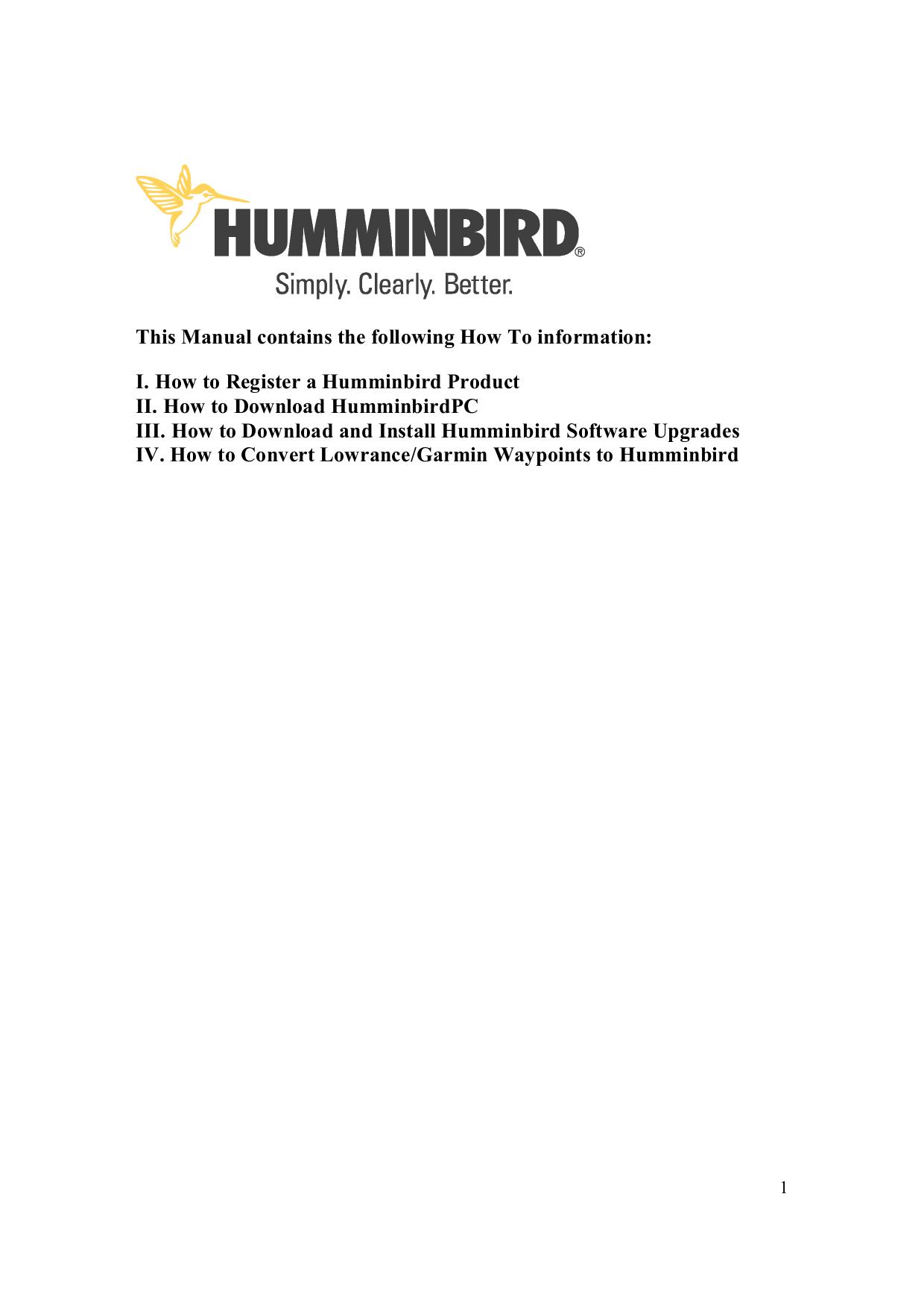 pdf for Humminbird GPS 788c manual