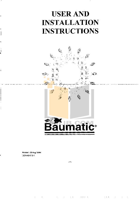 pdf for Baumatic Freezer BF315 manual