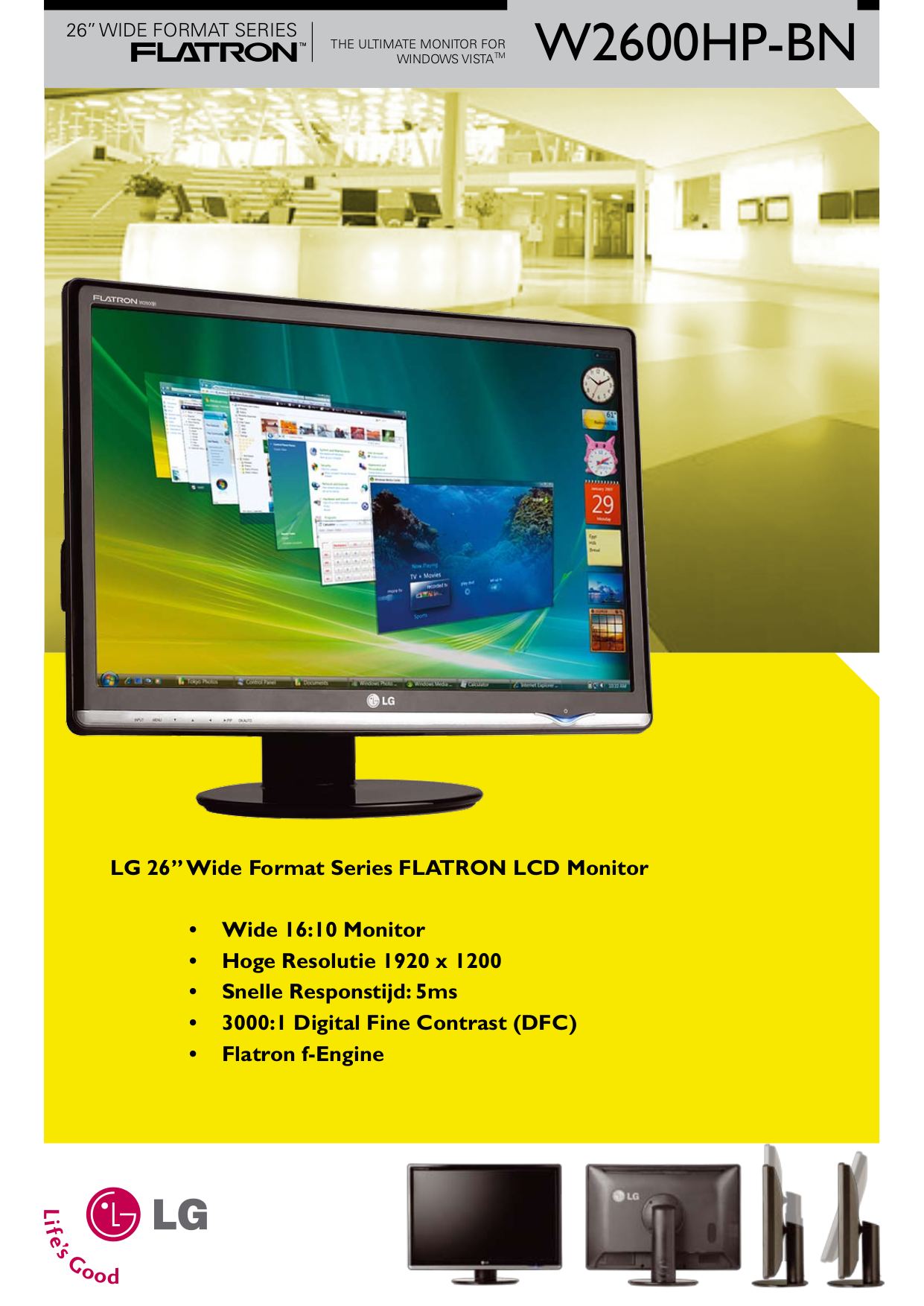 pdf for LG Monitor W2600HP manual