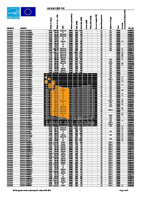 Acer Desktop Aspire T136 pdf page preview