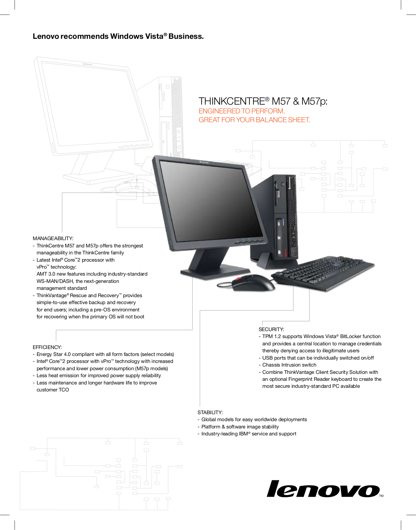 pdf for Lenovo Desktop ThinkCentre M57p 9160 manual