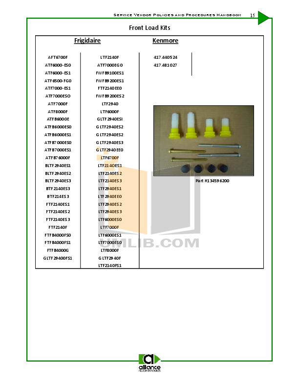 Frigidaire Washer GLTF2940ES2 pdf page preview
