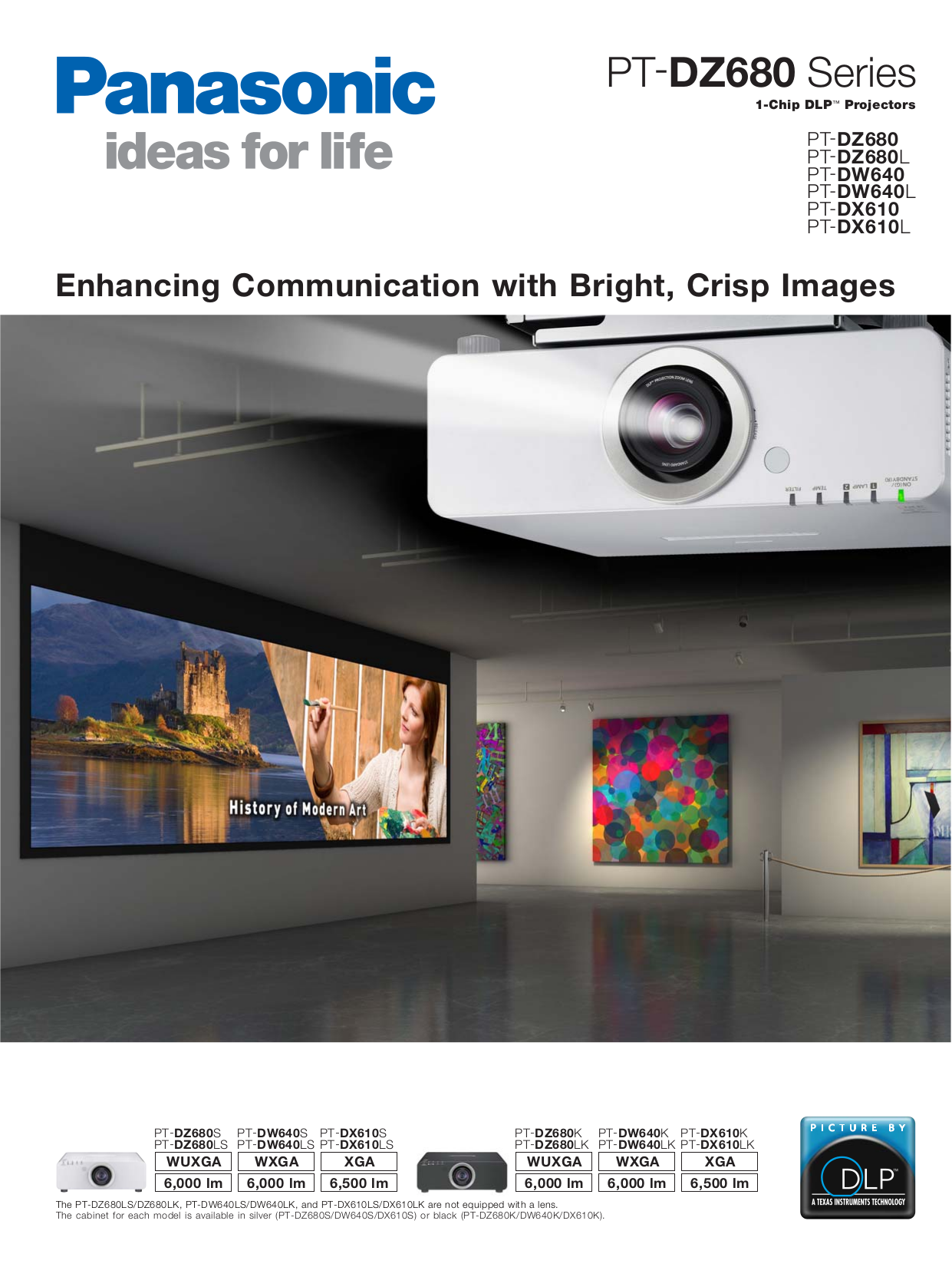 pdf for Panasonic Projector PT-D6000LS manual