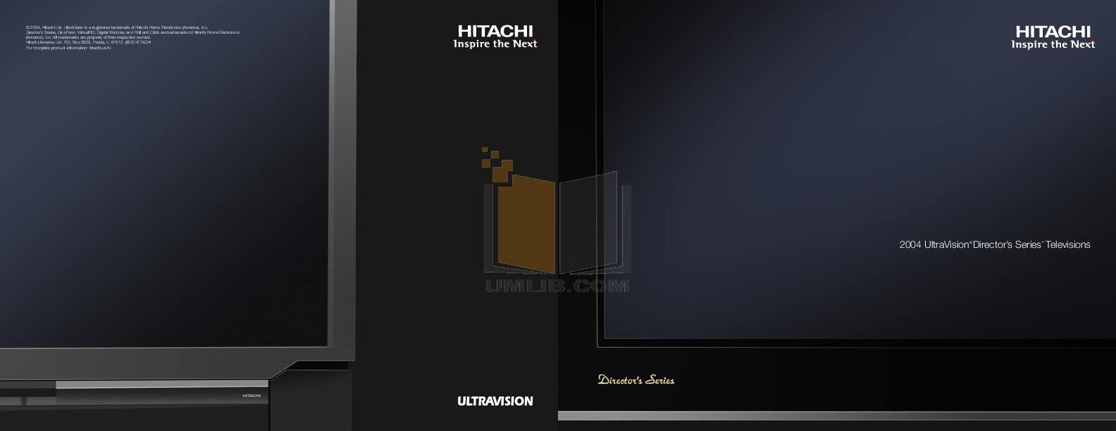 pdf for Hitachi TV 50VX915 manual