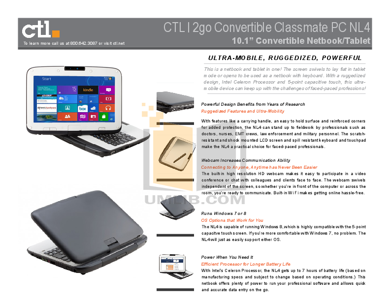 Download free pdf for Ctl 2GO Classmate PC Laptop manual