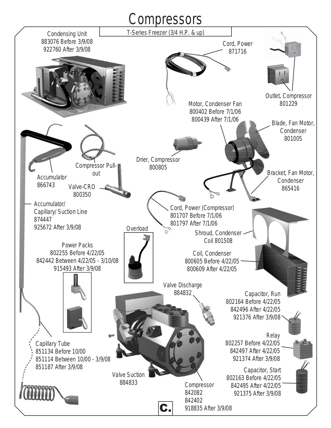 True Refrigerator Compressor Wiring Diagram T 49 Manual Image For