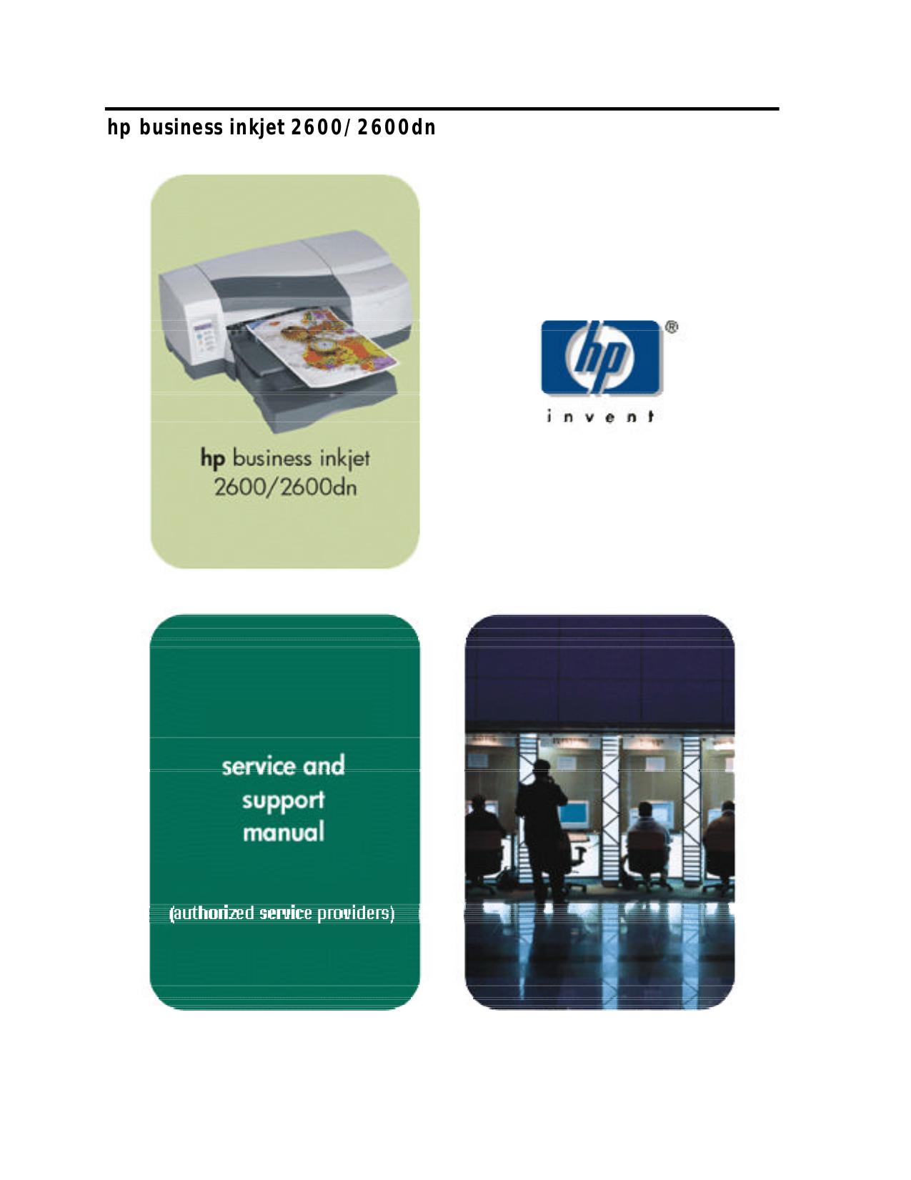 pdf for HP Printer Business Inkjet cp1700d manual