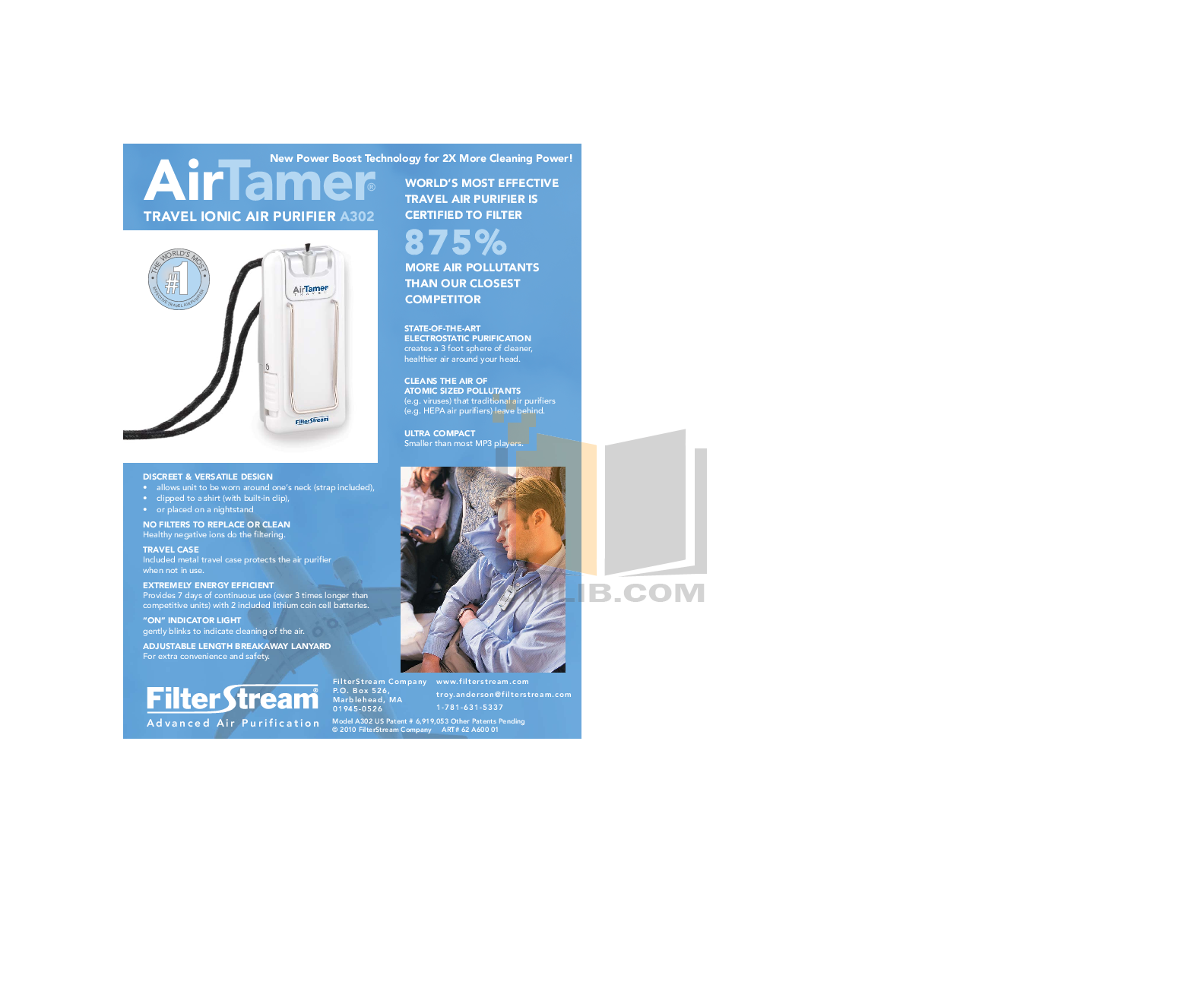 pdf for FilterStream Air Purifier A600 manual
