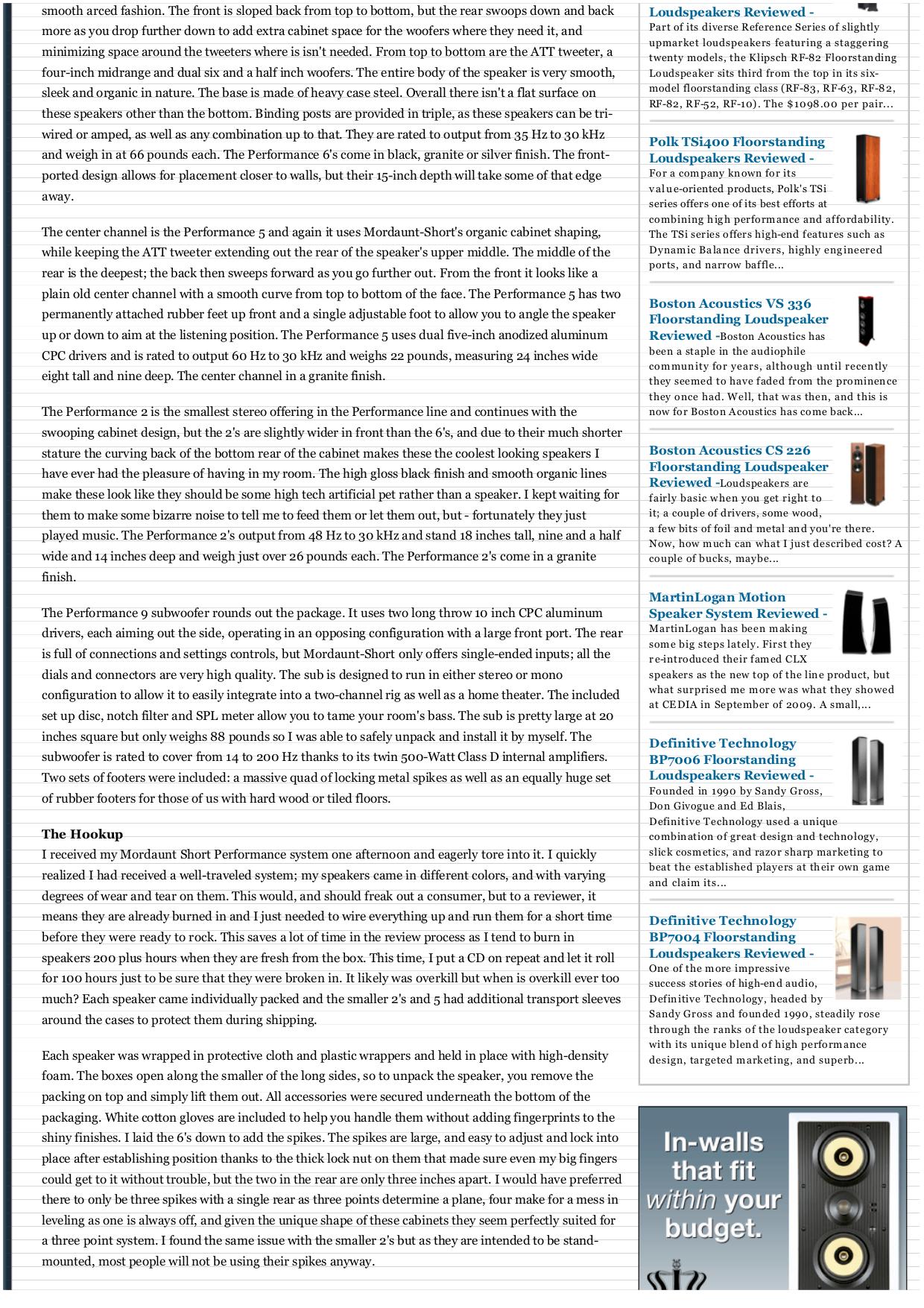 PDF manual for Klipsch Speaker Reference Series RF-82