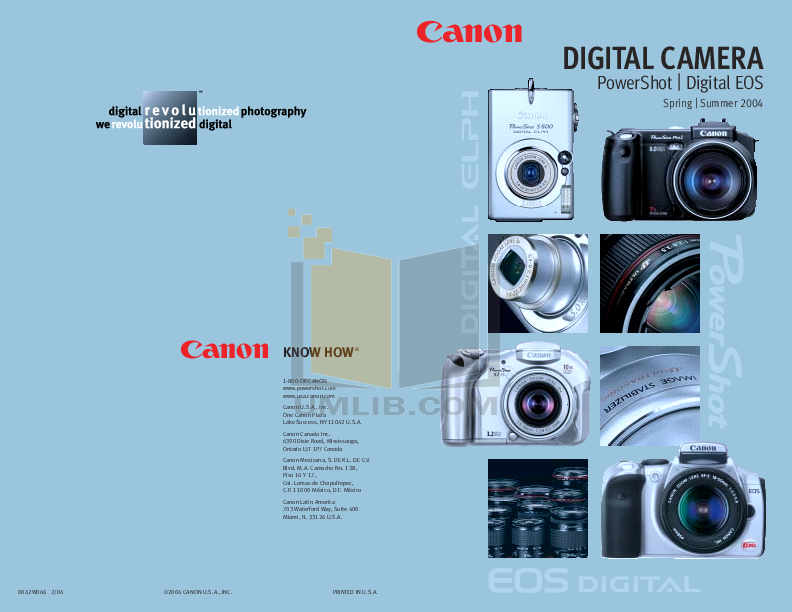 pdf for Canon Digital Camera Powershot A310 manual