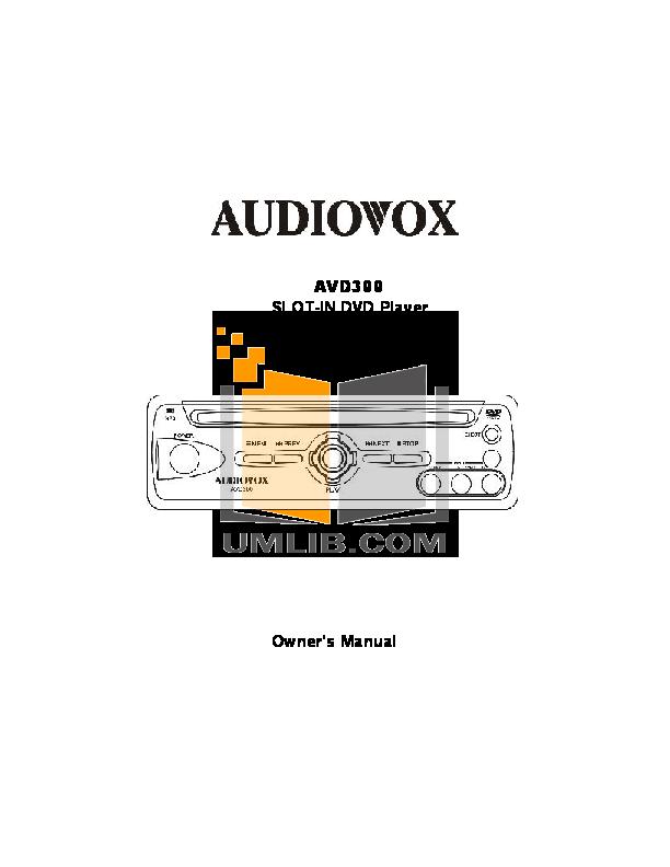 download free pdf for audiovox avd300 car video manual rh umlib com Example User Guide User Manual