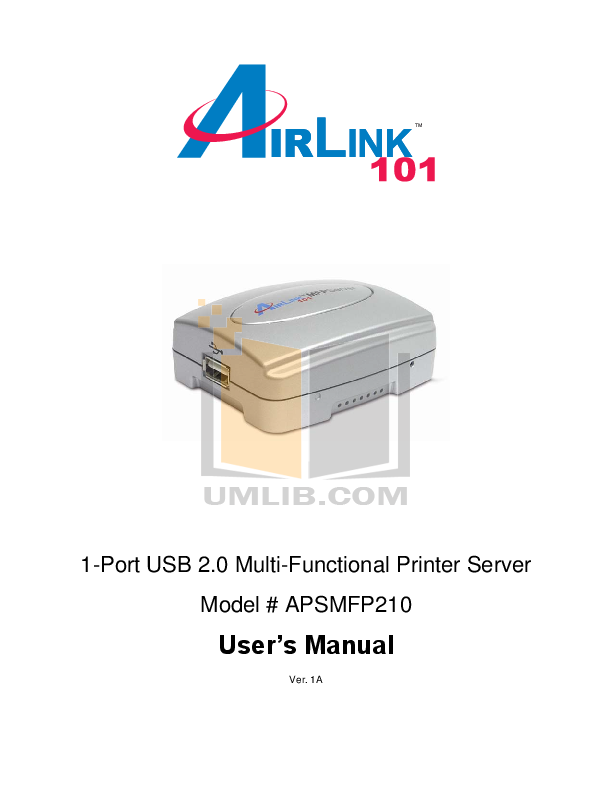 pdf for Airlink Other APSMFP210 Servers manual
