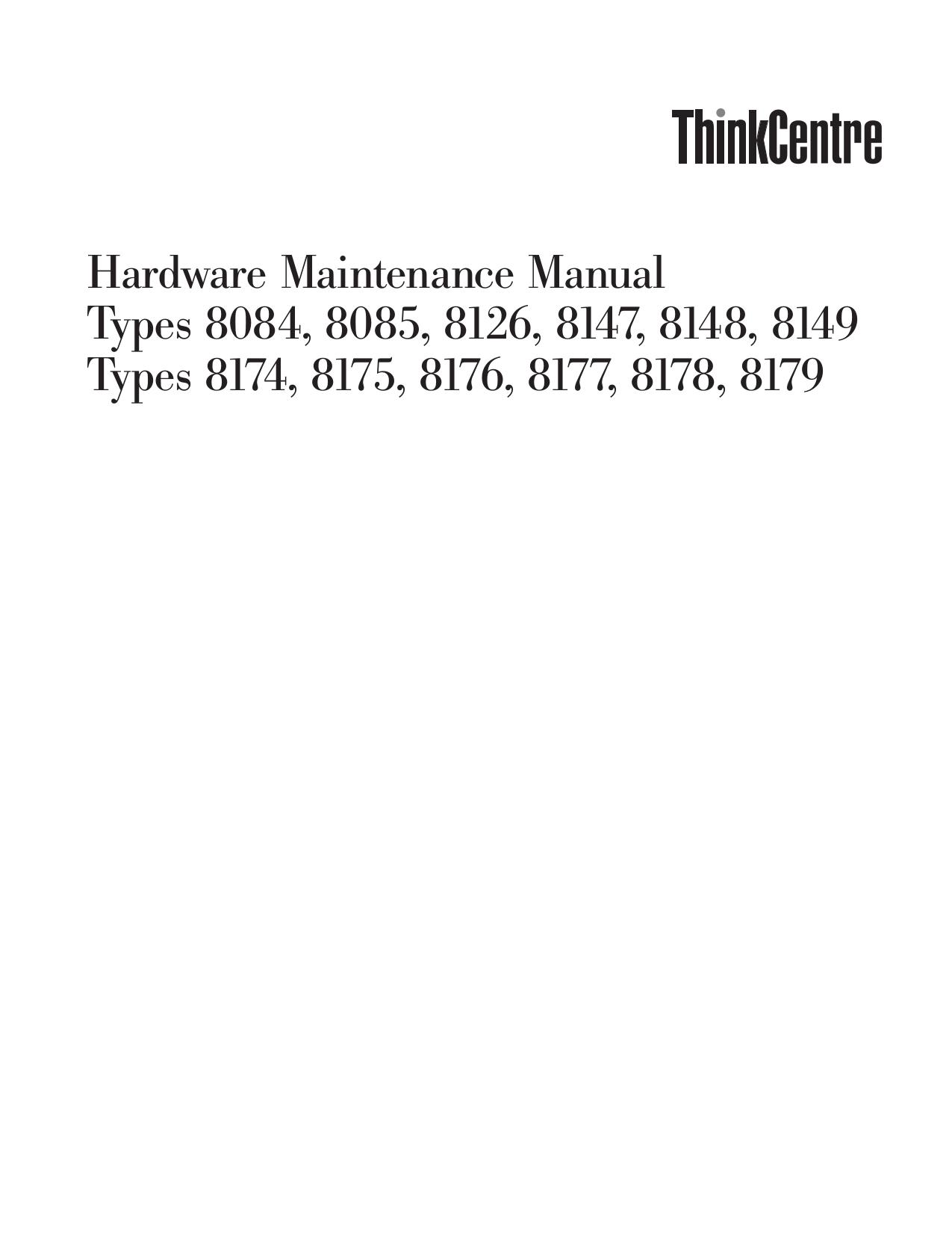 pdf for Lenovo Desktop ThinkCentre A50 8149 manual