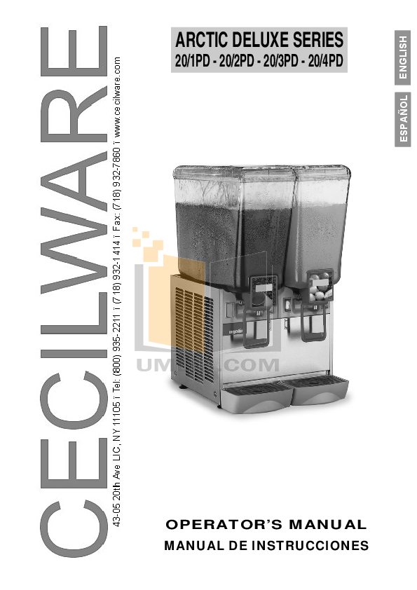 pdf for Cecilware Other EL-1 Electric Stoves manual
