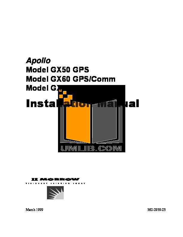 pdf manual for garmin gps gx 55 rh umlib com O-Ring Installation Guide Honeywell Thermostat Installation Manual