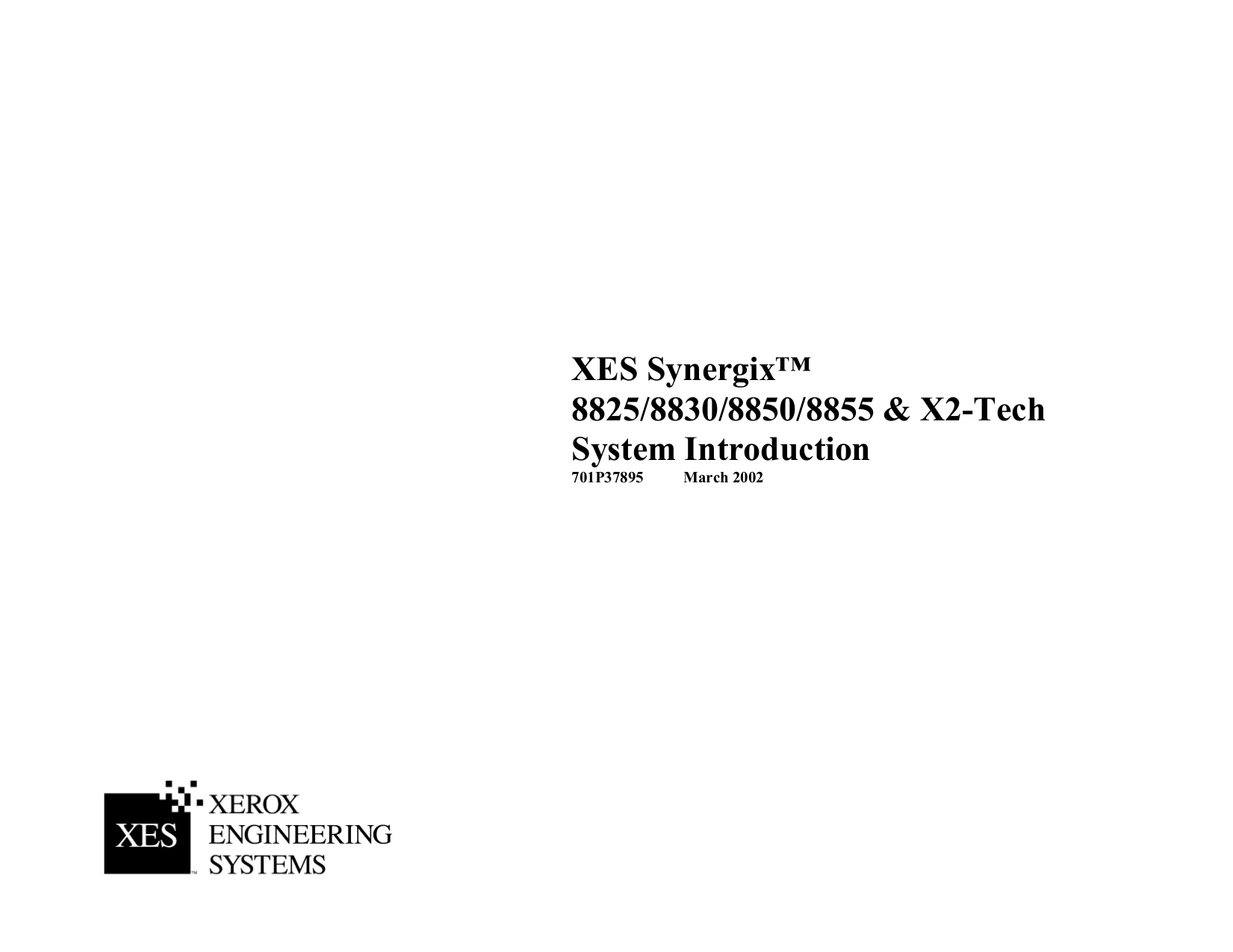 pdf for Xerox Printer X2 Tech manual