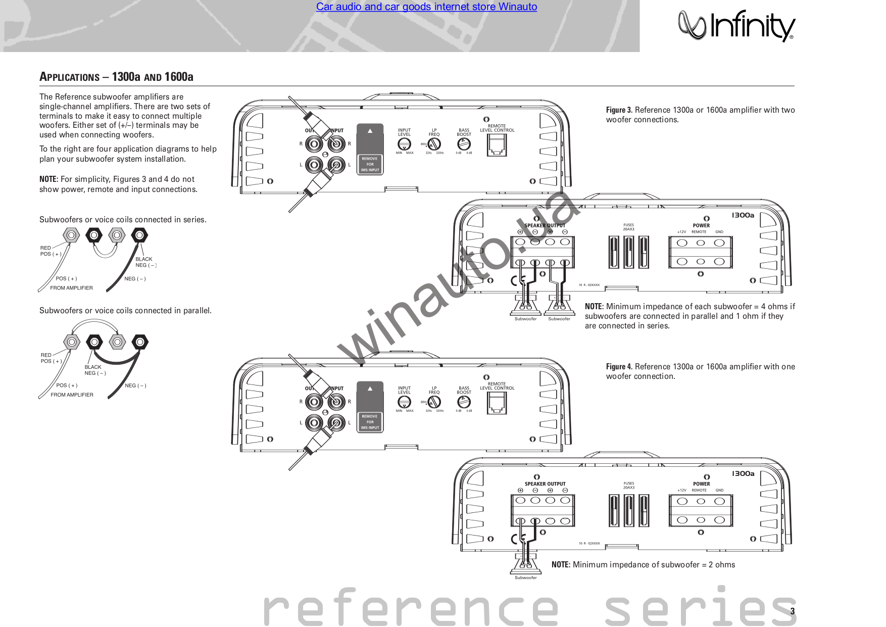 pdf manual for infinity car amplifier reference 5350a
