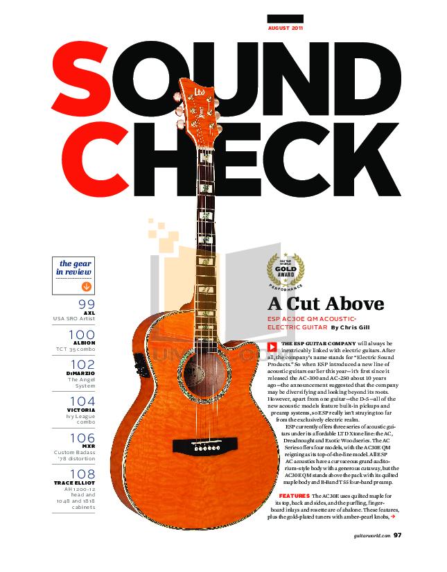 pdf for ESP Guitar B-416SM manual