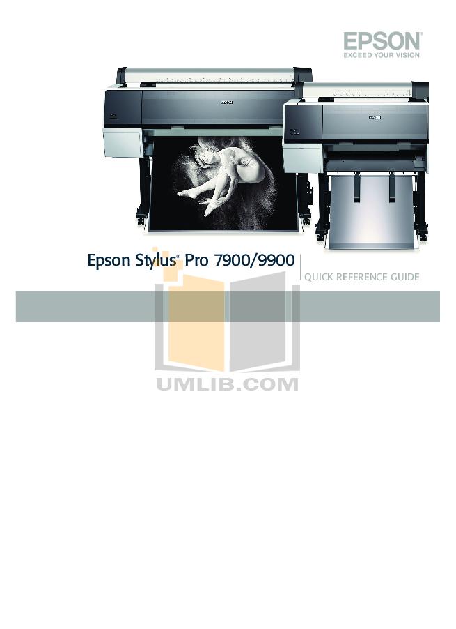 pdf for Epson Printer Stylus Pro 7900 manual