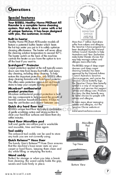 Bissell Vacuum 7100 pdf page preview