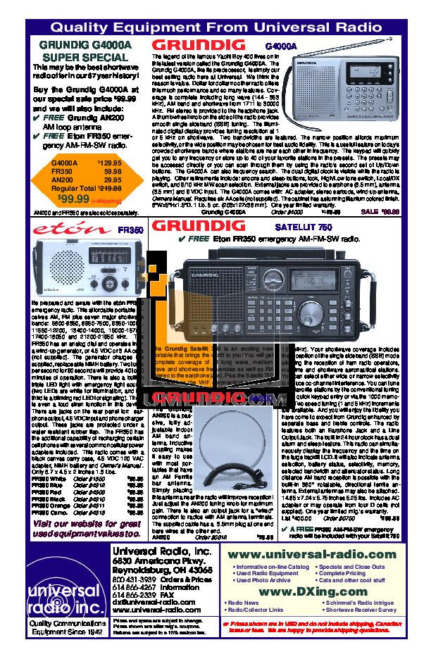 Download Free Pdf For Eton G4000a Radio Manual Manual Guide