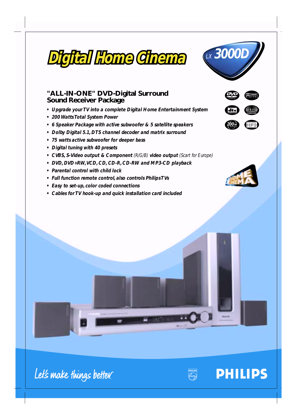 download free pdf for philips lx3000d home theater manual rh umlib com philips home theater hts3371d manual philips soundbar home cinema speaker css2123 manual