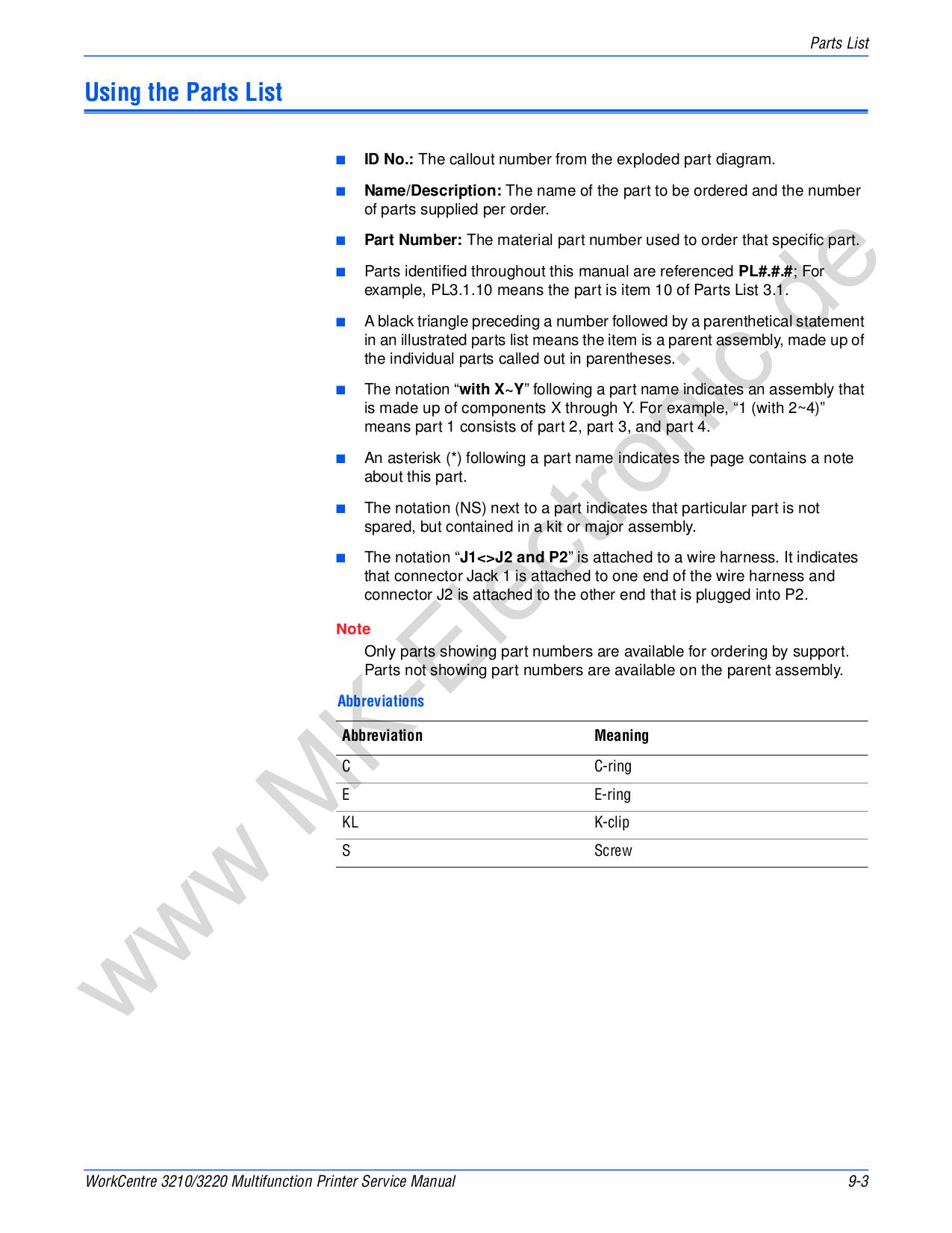 PDF manual for Xerox Multifunction Printer WorkCentre 3220