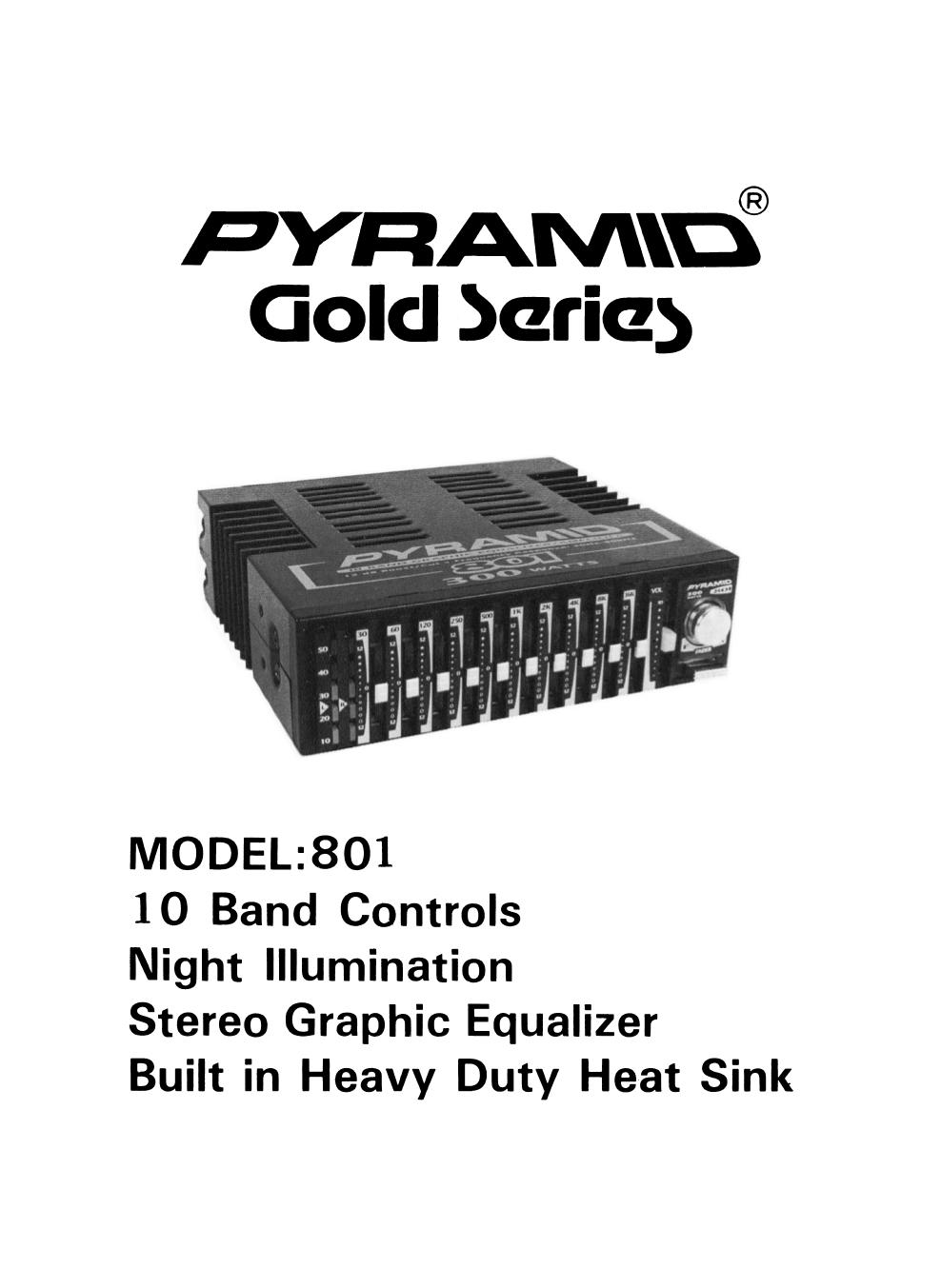 PDF manual for Pyramid Car Amplifier 801