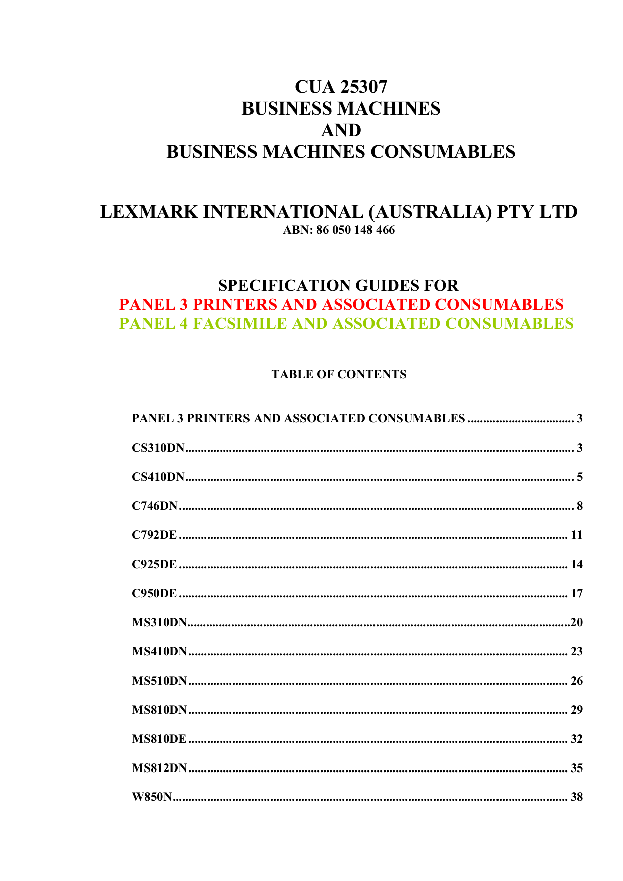 pdf for Lexmark Printer W850dn manual