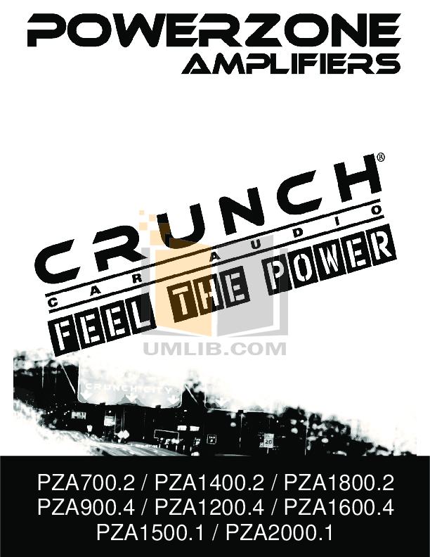 pdf for Crunch Car Amplifier PowerZone PZA1200.4 manual