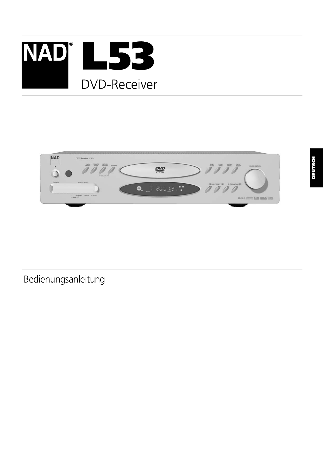 pdf for NAD Receiver L53 manual